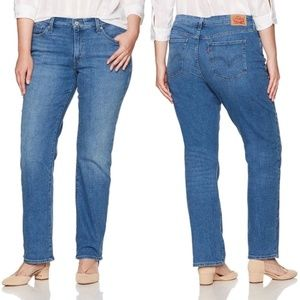 Levi's 414 Classic Strait Relaxed Jeans Size 24W